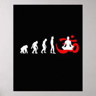 Evolutions-Yoga-Buddhist-Meditation Plakatdruck