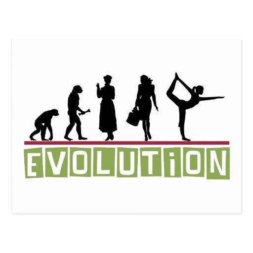 Evolutions-Yoga-Geschenk Postkarte