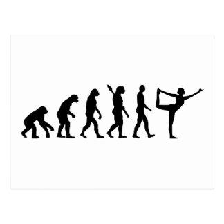 Evolutions-Yoga Postkarte