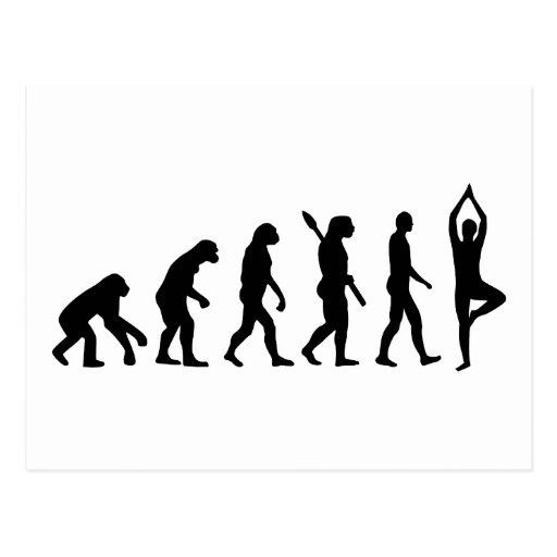 Evolutions-Yoga Postkarten