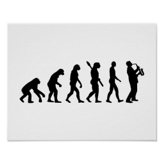 EvolutionSaxophone Poster