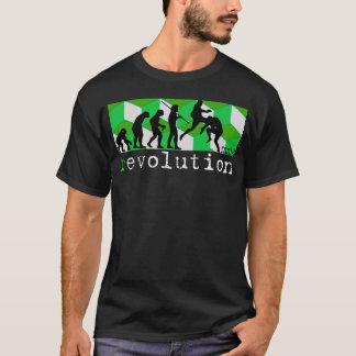 Evolutionsdiagrammgrün-Würfel-T - Shirt der Mixed