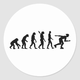 Evolutionsinline-Skaten Runder Aufkleber