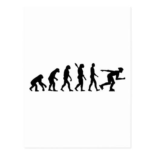Evolutionsinline-Skaten Postkarte