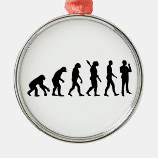 Evolutionssicherheitsschutz Rundes Silberfarbenes Ornament