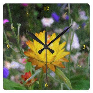 Ewig Blume Quadratische Wanduhr