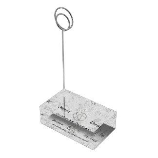 Ewige Handfasting/Hochzeits-Pentagramm-weiße Suite Platzkartenhalter