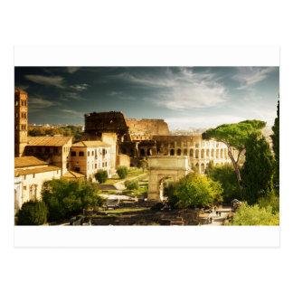 Ewige Stadt-Postkarte mit Ansicht des Colosseum Postkarten