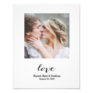 Ewiger Hochzeits-Foto-Druck der Liebe-| Fotodruck