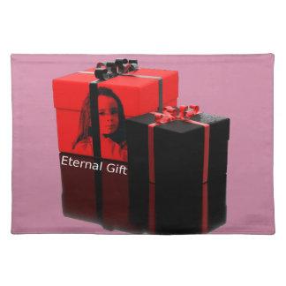 """""""Ewiges Geschenk-"""" personalisierte Foto-Illusion Tischset"""