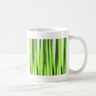 Ewiges immergrünes Stripy Muster Kaffeetasse