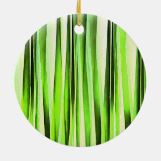 Ewiges immergrünes Stripy Muster Keramik Ornament