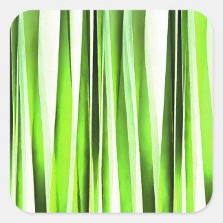 Ewiges immergrünes Stripy Muster Quadratischer Aufkleber