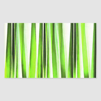 Ewiges immergrünes Stripy Muster Rechteckiger Aufkleber
