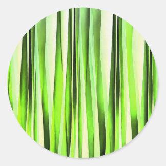 Ewiges immergrünes Stripy Muster Runder Aufkleber