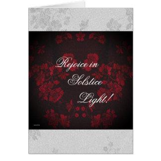 Ewiges Winter-Sonnenwende-Weihnachten-Weihnachten Grußkarte
