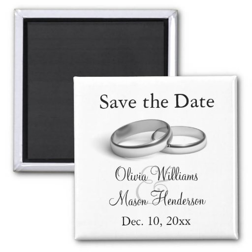 Ewigkeits-Save the Date Magnet Magnete