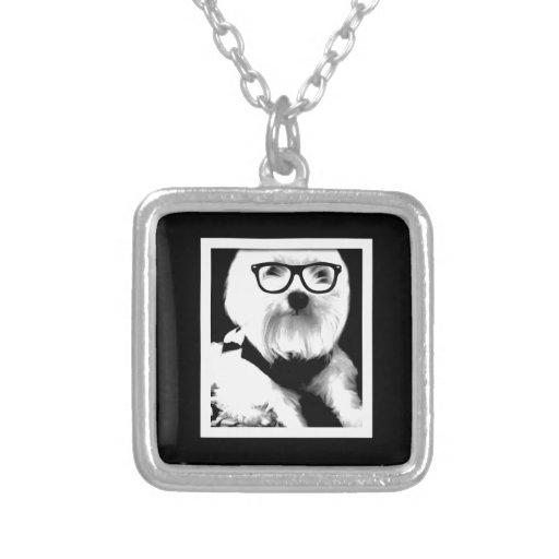 Ewok. Niedliches maltesisches mit Gläsern Halskette