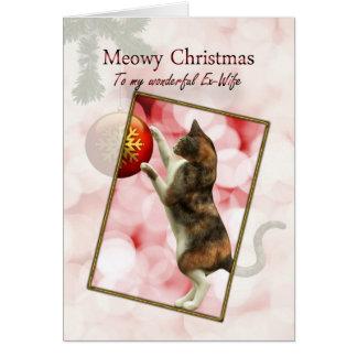 Ex-Frau, Meowy Weihnachten Karte