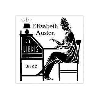 Ex Schreibtisch-Gewohnheit Libris Gummistempel