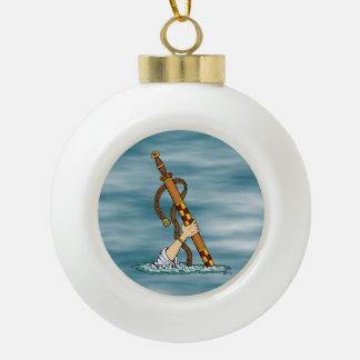 Excalibur Keramik Kugel-Ornament