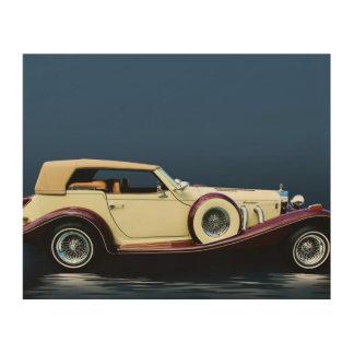 Excalibur Vintages Auto-hölzerner Leinwand-Druck Holzleinwand