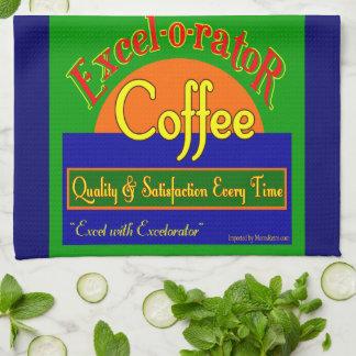 Excelorator Retro Kaffee-Aufkleber-Geschirrtuch Küchenhandtücher