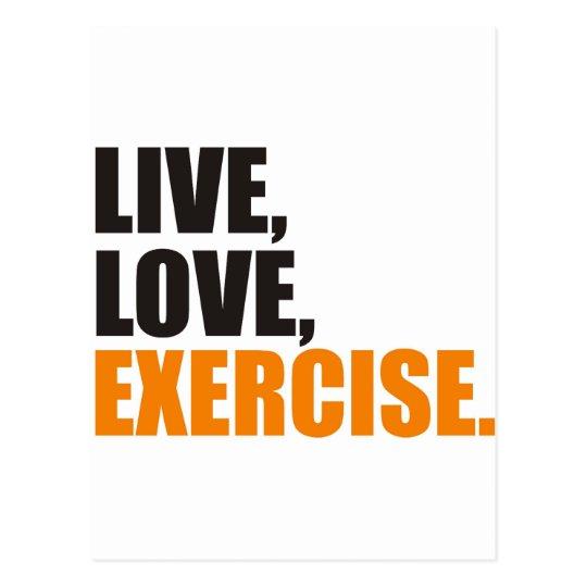 exercise postkarte