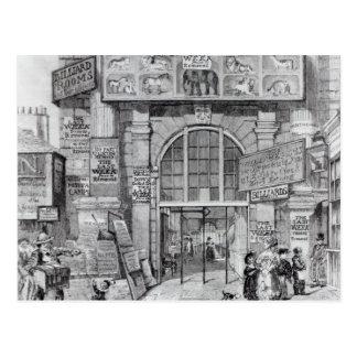 Exeter-Änderung, die den Eingang zeigt Postkarte