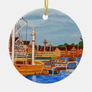 Exeter Devon England Rundes Keramik Ornament