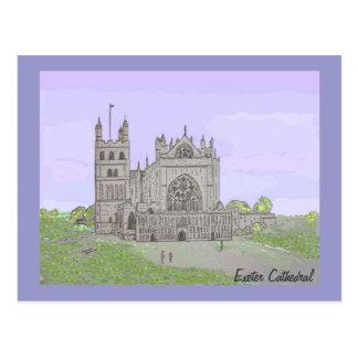 Exeter-Kathedrale Postkarte