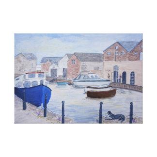 Exeter Quay Devon Großbritannien Leinwanddruck