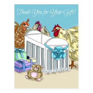 """Exklusive Mutter-Henne-Babyparty """"danken Ihnen"""" zu Postkarte"""