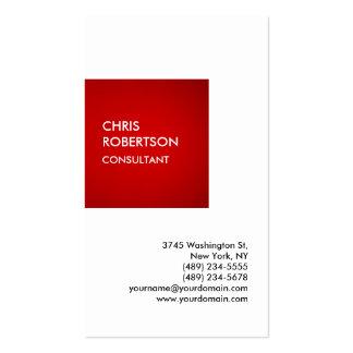 Exklusives spezielles rotes weißes privates visitenkarten