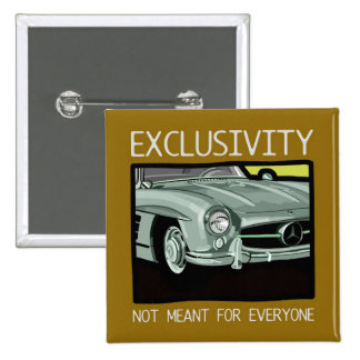 Exklusivität und Reichtum - altes Gullwing Klassik Quadratischer Button 5,1 Cm