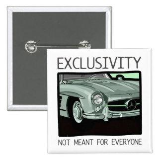 Exklusivität und Reichtum - altes Gullwing Quadratischer Button 5,1 Cm