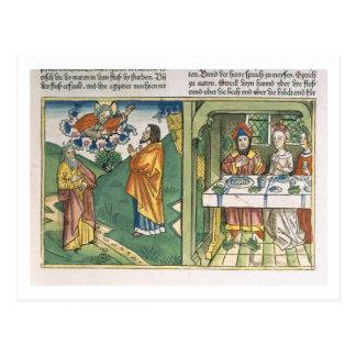 Exodus 8 1-15 die sieben Pest von Ägypten: Moses Postkarte