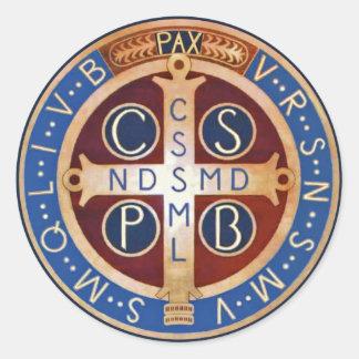 Exorzismus-Medaillen-Aufkleber St. Benedict