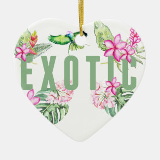 Exotic Keramik Herz-Ornament