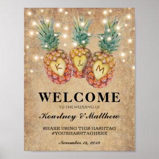 Exotische Ananas-tropischer Hochzeits-Empfang Poster
