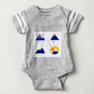 Exotische Asien-Berge blau Baby Strampler