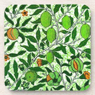 Exotische Frucht Williams Morris, Limones Grün Untersetzer