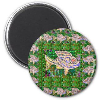 EXOTISCHE Goldfisch-Fisch-Wasserhaustier - Runder Magnet 5,7 Cm
