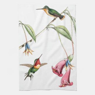 Exotische Kolibri-Vogel-Blumen-Küchen-Tücher Geschirrtuch
