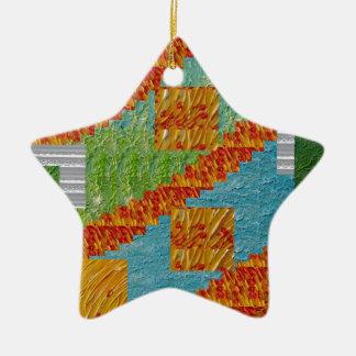 Exotische Kunst-Collagen-Dekoration durch Keramik Stern-Ornament