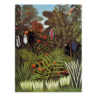 Exotische Landschaft 1908 durch Henri Rousseau Postkarte