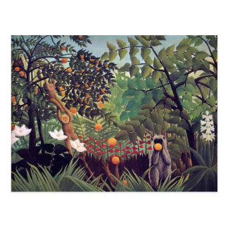 Exotische Landschaft 1910 durch Henri Rousseau Postkarte