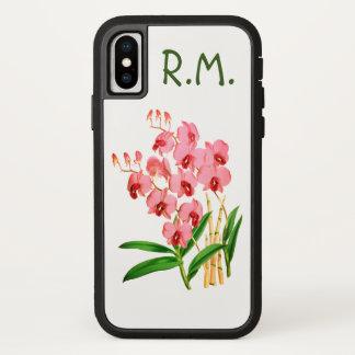 Exotische rosa Orchideen personalisierter iPhone X iPhone X Hülle