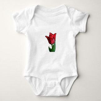 Exotische rote Buntglas-Tulpe Baby Strampler