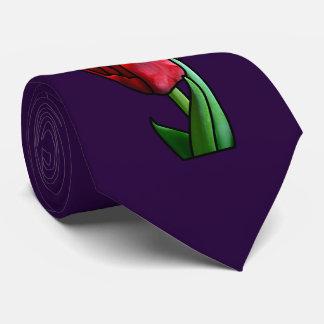 Exotische rote Buntglas-Tulpe Personalisierte Krawatte